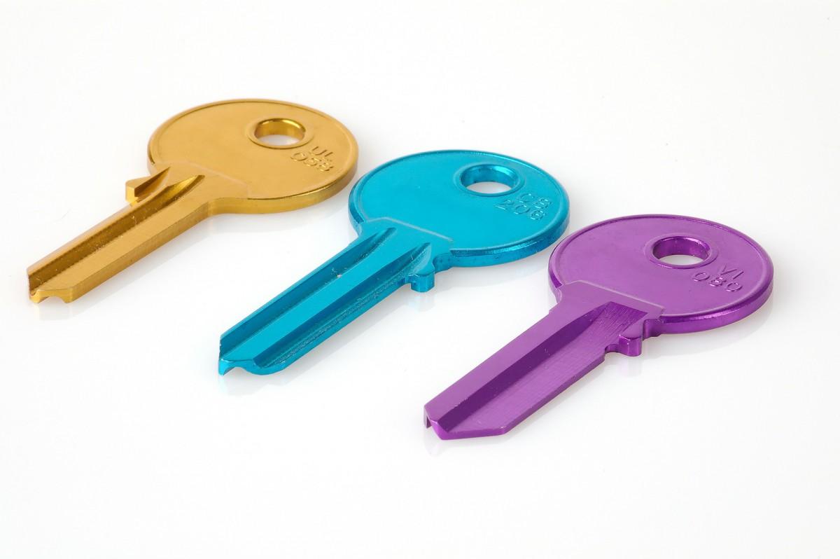 Drei bunte Schlüssel