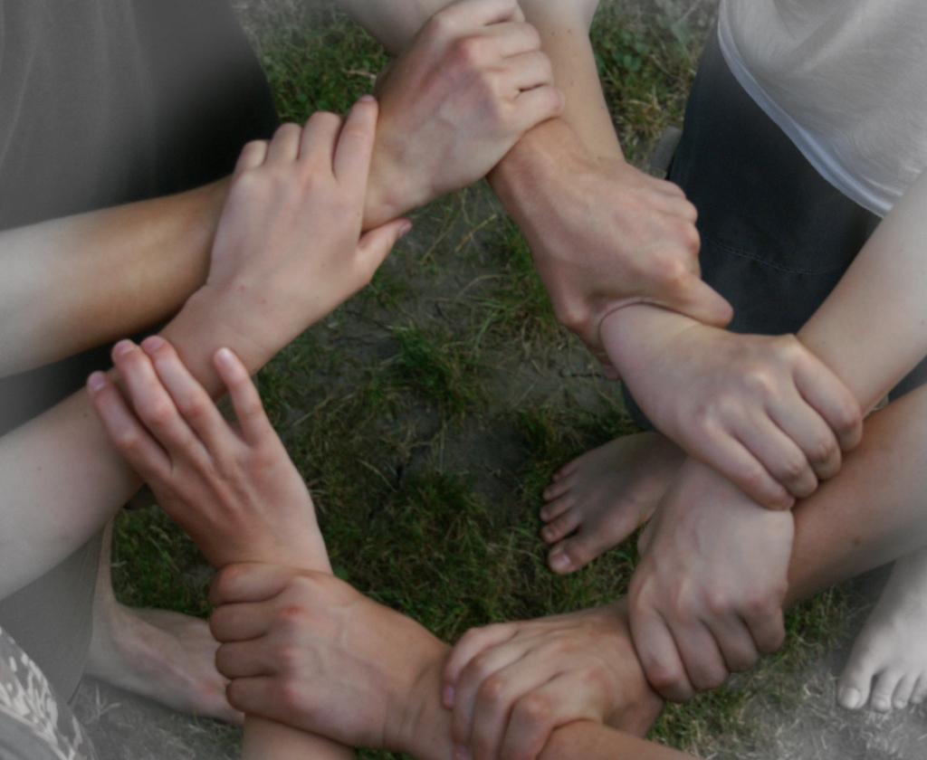Kreis aus Händen