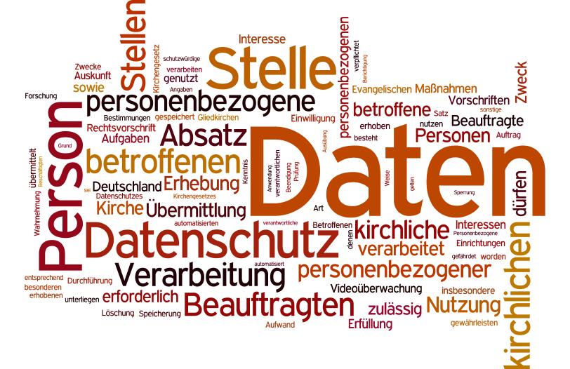 Wortwolke Datenschutz