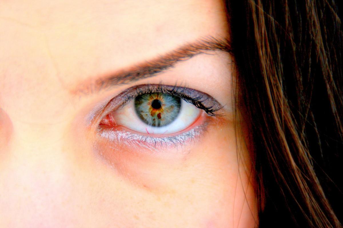 Auge und Gesicht als Nahaufnahme