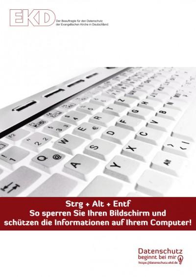 Auszug einer Tastatur mit dem Hinweis auf das Aktivieren der Tastensperre